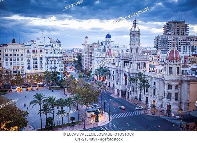 Town hall square,Valencia, Spain