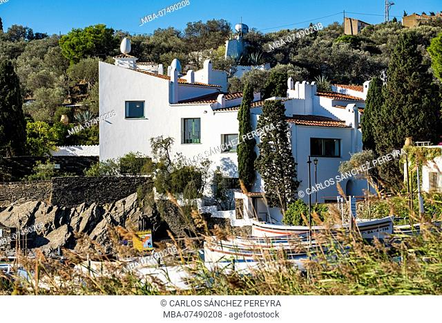 Exterior view of the house museum of the surrealist painter Salvador Dali in Portlligat in the natural reserve of Cap de Creus north of the Costa Brava in the...