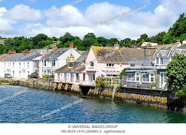 The Village Of Flushing Alongside The Penryn River Near Falmouth In Cornwall, England, UK