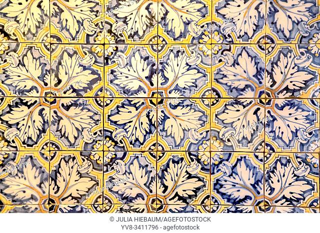 Vintage Azulejos tiles in Lisbon, Portugal