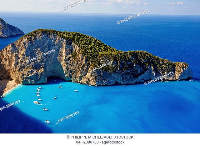Greece, Ionian island, Zante island, Shipwreck beach