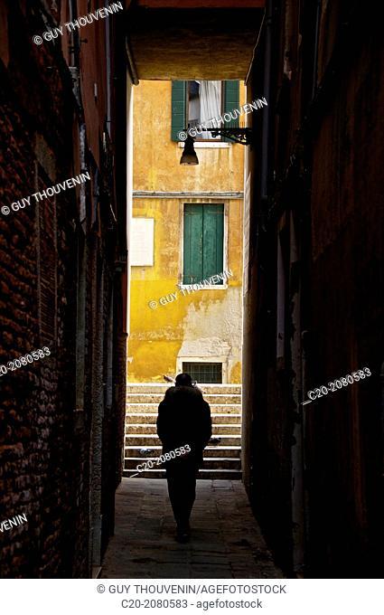 People on street, Venice, Italy