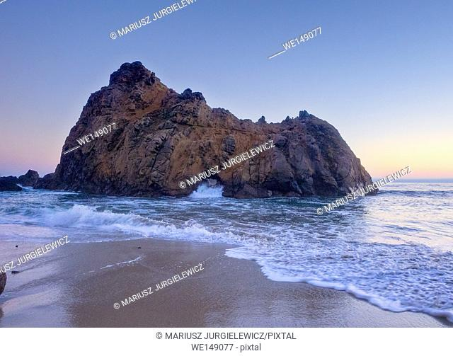 Pfeiffer Beach is located in the heart of Big Sur and is one of the favorite beaches in all of Big Sur