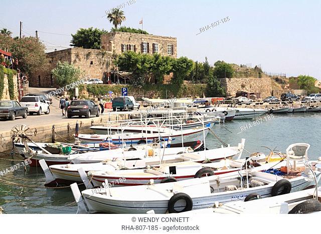 Harbour, Byblos, Jbail, Lebanon, Middle East