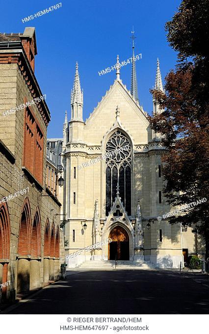 France, Paris, Fondation d'Auteuil chapel