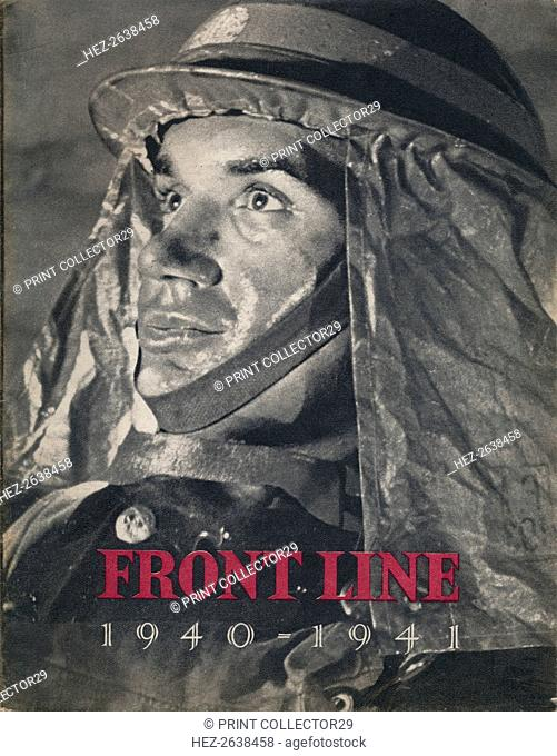 'Frontline 1940-1941': front page, 1942. Artist: Unknown