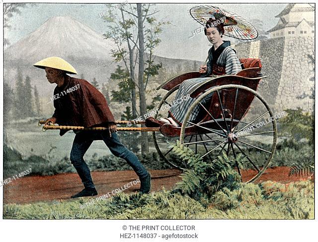 'Rickshaw, Carriage of Japan', c1890. Illustration from the the booklet Japon, Moeurs et Usages, (Paris, c1890)
