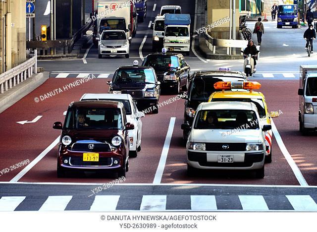 Hakozaki junction of Metropolitan Expressways 6 and 9, near Tokyo City Terminal, Nihonbashi-Hakozaki-cho, Chuo , Chuo-ku, Tokyo, Japan