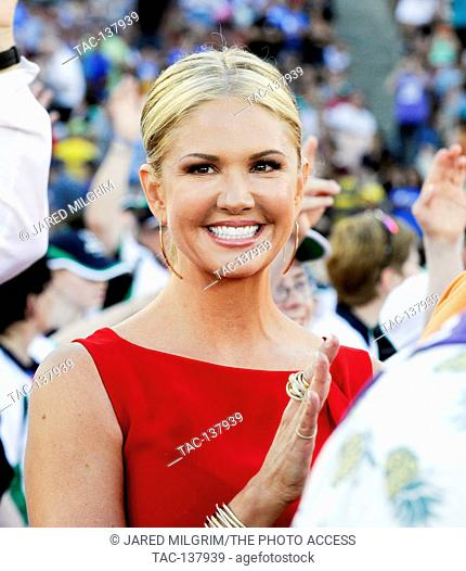 Nancy O'Dell at the Special Olympics World Games Opening Ceremony at the Coliseum on July 25th, 2015 in Los Angeles, California
