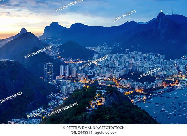 View to Rio from Pao de Acucar, Sugarloaf, Rio de Janiero, Brazil, Rio de Janeiro
