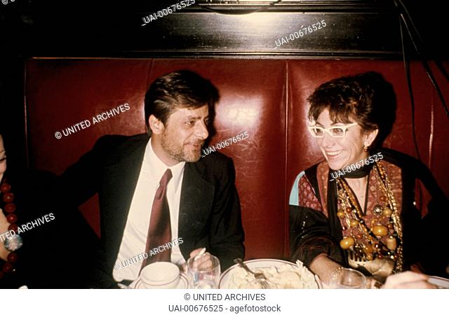 Italian Actor GIANCARLO GIANNINI with Italian Director LINA WERTMÜLLER (ca. 1976) / LINA WERTMÜLLER