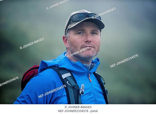 Portrait of hiker