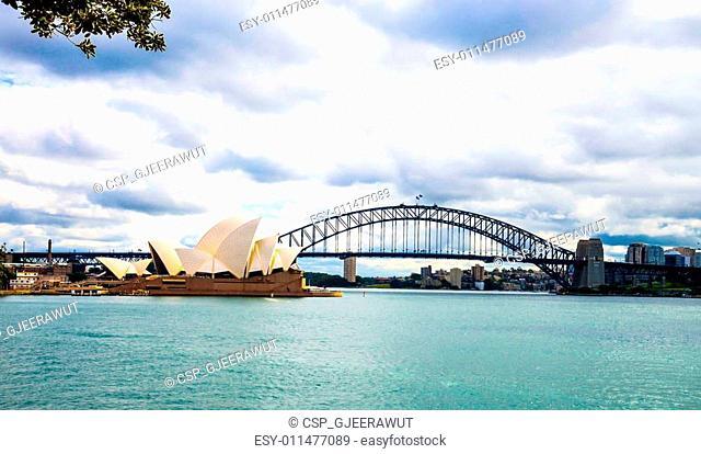 Opera house and Harbour bridge in Sydney Australia6