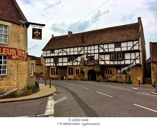 The George Inn pub, Norton Saint Philip, Bath,. Somerset. England. United Kingdom