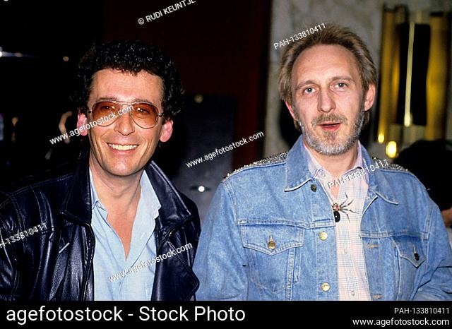 Robert Powell and John Entwistle at the gala premiere of the documentary 'Chuck Berry Hail! Hail! Rock 'n' Roll 'in Empire Leicester Square