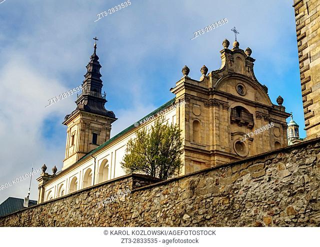 Poland, Swietokrzyskie Voivodeship, Swietokrzyskie Mountains, Lysa Gora, Holy Cross Benedictine Monastery