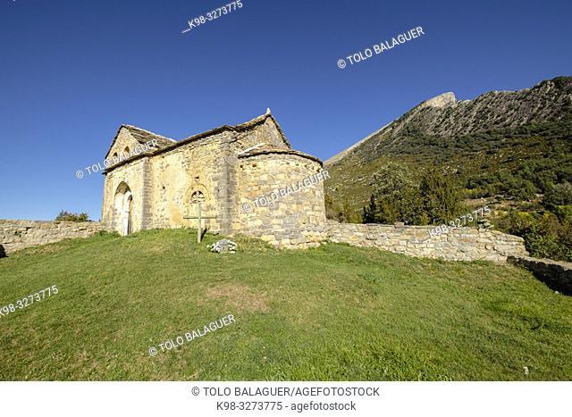 iglesia parroquial de San Martín, Sercué , término municipal de Fanlo, Sobrarbe, Huesca, Aragón, cordillera de los Pirineos, Spain