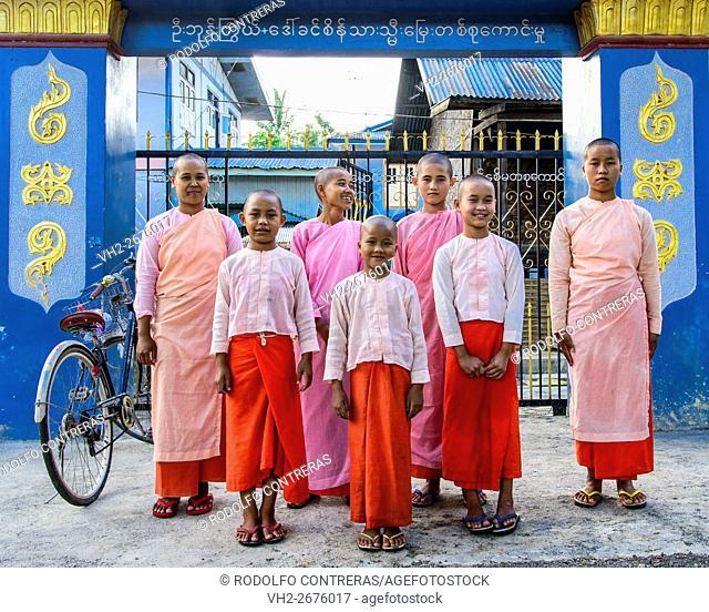 Nuns at the nunnery in Nyaungshwe, Myanmar