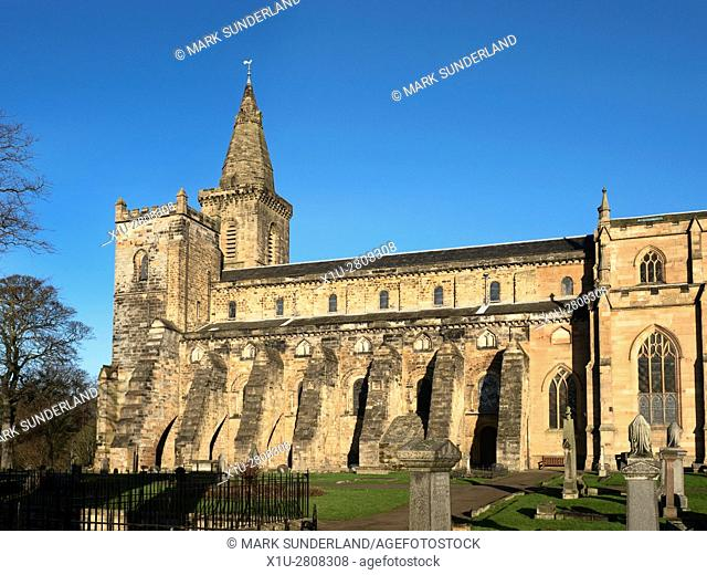 Romanesque Abbey Nave at Dunfermline Abbey Dunfermline Fife Scotland
