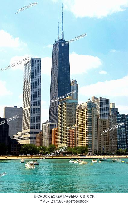 Chicago Hancock Center as viewed from Lake Michigan