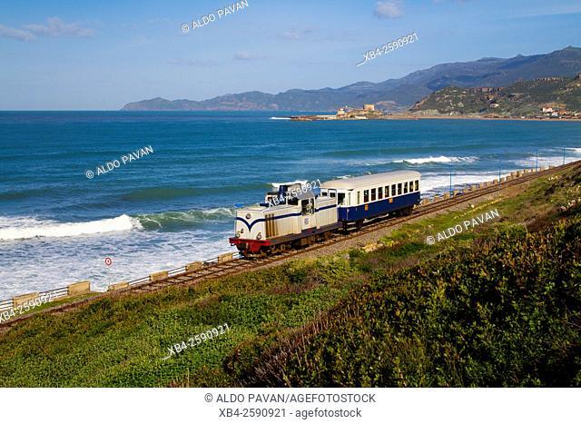 Green Train by Turas Bay, Bosa, Sardinia, Italy