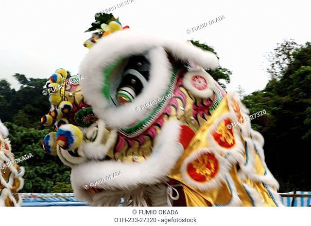 Lion Dance at Dai Mui Tin Hau Festival, Hong Kong
