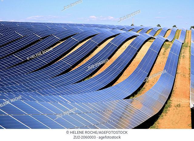Gigantic solar farm in Provence , Les Mées , France