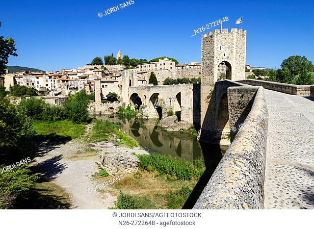 Besalu bridge. XII-XIV centuries. Romanesque