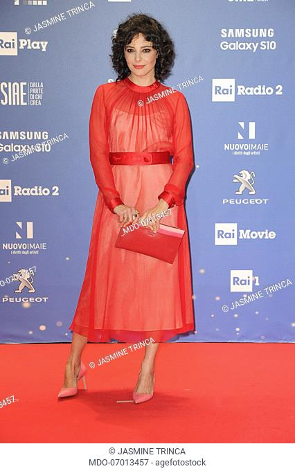 Italiana actress Jasmine Trinca during the red carpet of the 64th edition of the David di Donatello. Rome (Italy), March 27th, 2019