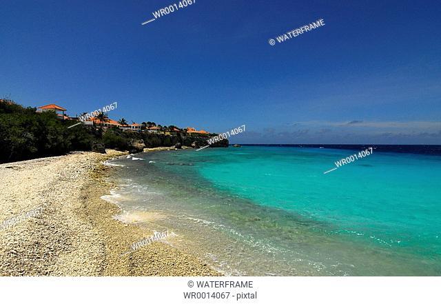 Beach of Curacao, Caribbean Sea, Netherland Antilles, Curacao