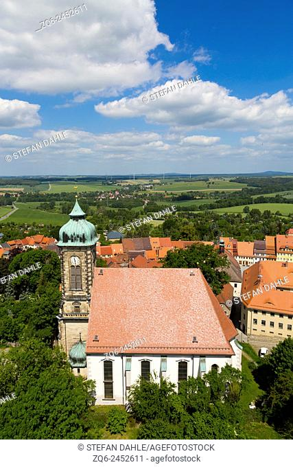 View over Stolpen, Saxony, Germany