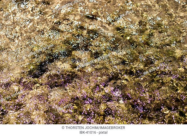 Play of sunreflextions on the rough surface of water in the shallow water at low tide in the Indian ocean. ( South-Africa)