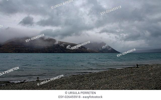 Scene on the South Island of New Zealand. Travel destination