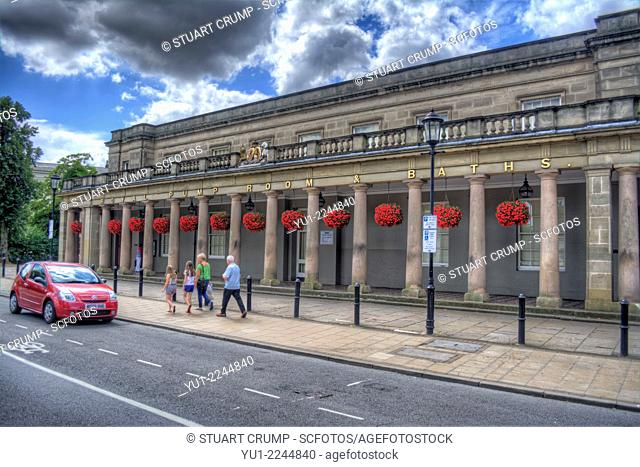 HDR of the Royal Pump Room and Baths, Royal Leamington Spa, Warwickshire, England, UK