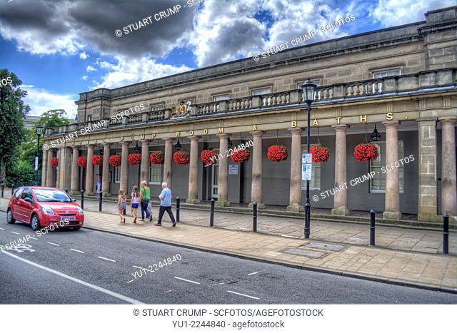HDR of the Royal Pump Room and Baths, Royal Leamington Spa, Warwickshire, England, UK