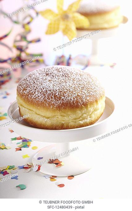 A carnival doughnut with rose hip jam