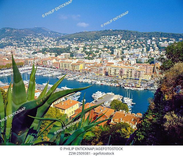 View over Bassin Lympia, Nice Cote D'azur,France