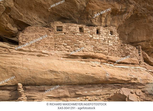 Four Windows Ruins, Ancestral Pueblo, up to 1000 years old, Lower Fish Creek, Bears Ears National Monument, Utah, USA