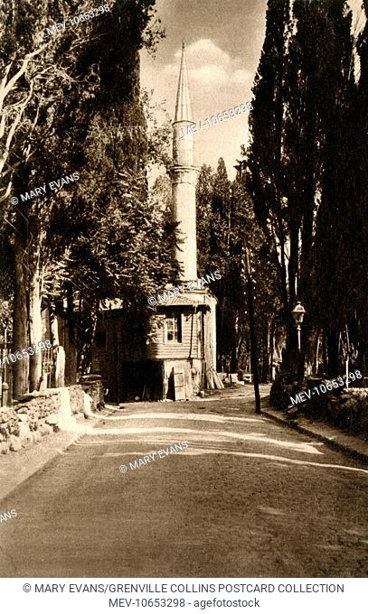 Uskudar, Istanbul, Turkey - Karadja Mosque and Cemetery