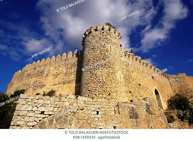Castle Santueri, fourteenth century. Felanitx, County Migjorn, Majorca, Balearic Islands, Spain