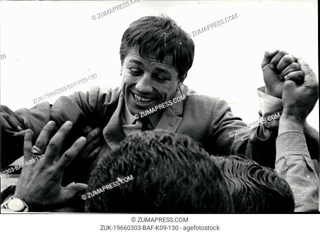 Mar. 03, 1966 - Returns to Buenos Aires from Tokyo a new world champion; Horacio Accavallo, the Argentine flight weight world champion boxer