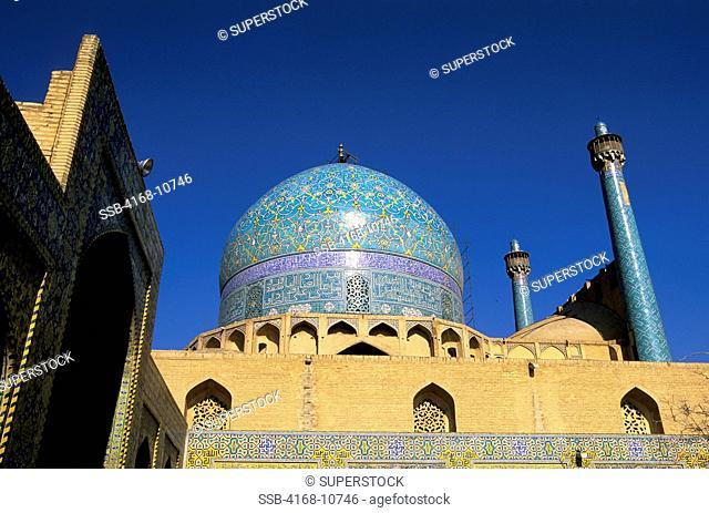 Iran, Esfahan, Eman Khomeni Square, Imam Masjed-E Emam Mosque, Minarets
