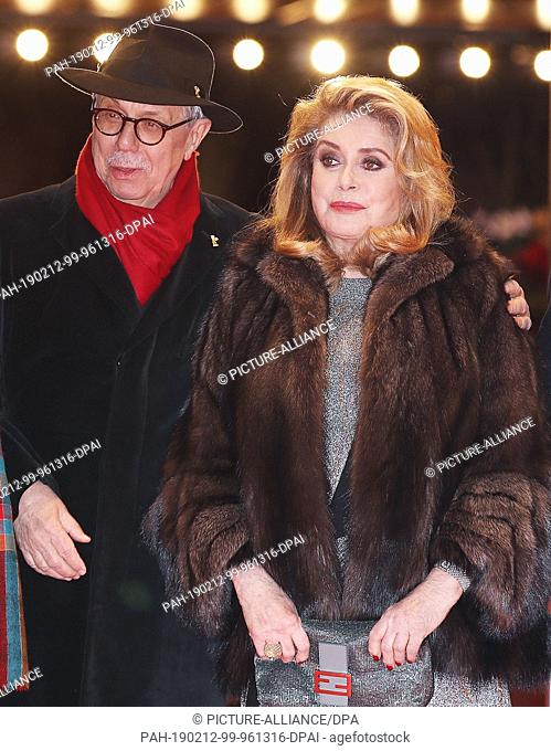"""12 February 2019, Berlin: 69th Berlinale: Premiere, Competition/Aut Competition """"""""Ladieu à la nuit"""""""" (Farewell to the Night), France/Germany: Catherine Deneuve"""