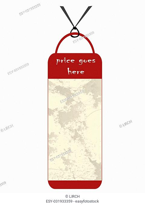 Price tag with grunge texture