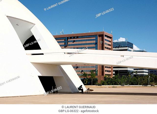 National museum, Metropolitan Cathedral Ours Mrs. Aparecida, Distrito Federal, Brasília, Brazil