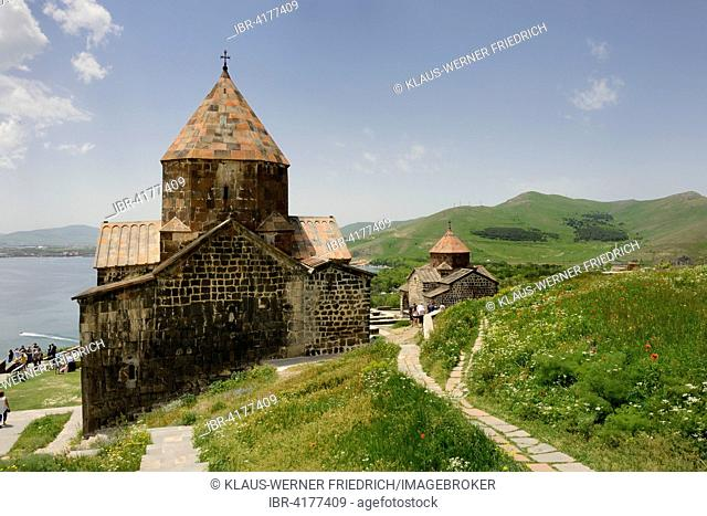 Sewanawank monestary, Lake Sevan behind, Armenia