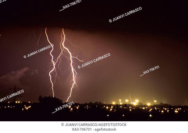Thunderstorm. Castellón, Comunidad valenciana, Spain