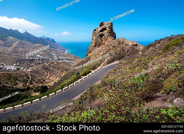 Anaga mountains, volcanic landscape in Tenerife, Canary island, Spain