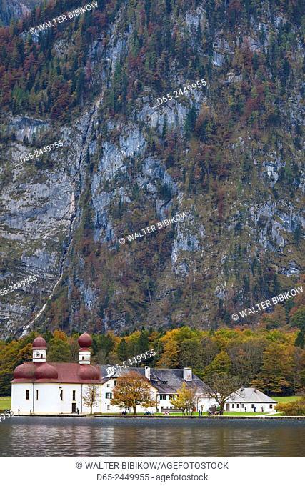 Germany, Bavaria, Konigsee, St. Bartholoma, St. Bartholoma chapel, fall