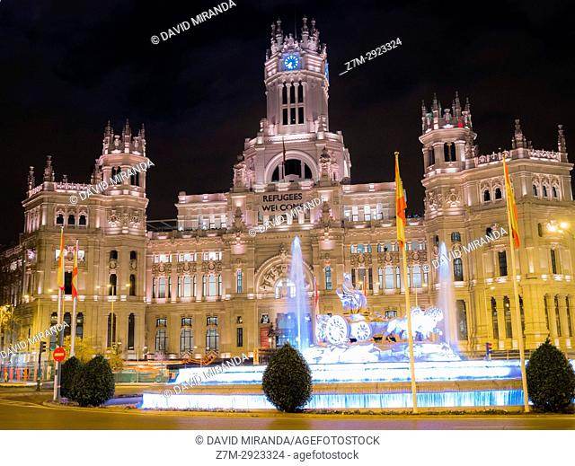 Town Hall, formerly Palace of Communication. Madrid, Spain